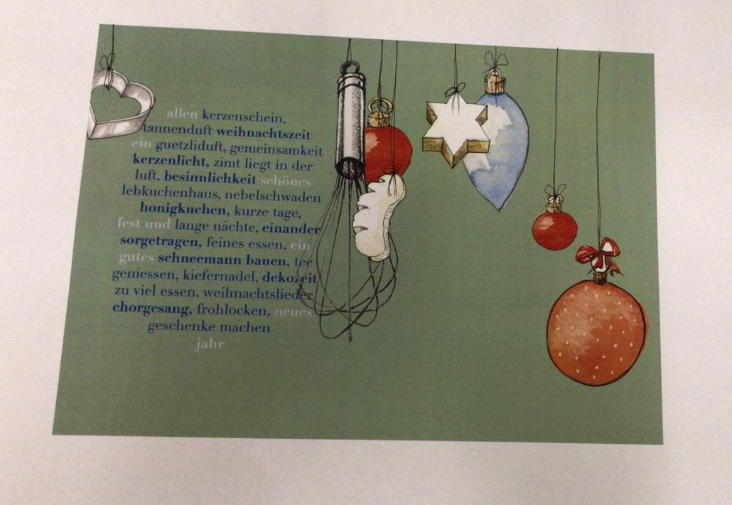 Weihnachtslieder Bäckerei.Weihnachtskarte Bäckerei Konditorei Confiserie Leutwyler